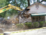 Demolition of Frank Family's old Tasting Room � the End of an Era