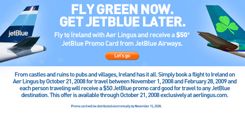 Fly Green Now. Get Jet Blue Later.